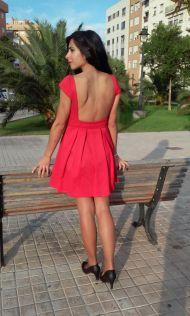 Vestido rojo piqué